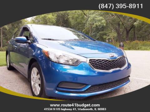 2014 Kia Forte for sale at Route 41 Budget Auto in Wadsworth IL
