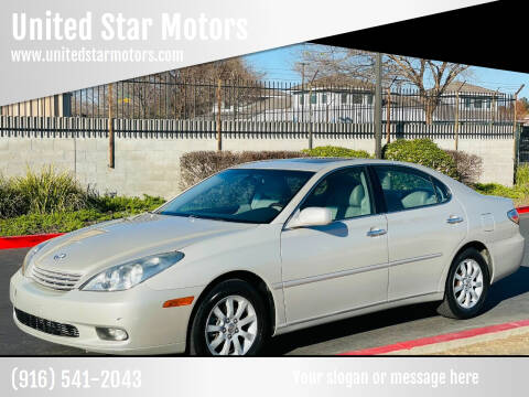 2002 Lexus ES 300 for sale at United Star Motors in Sacramento CA