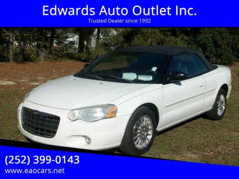 2006 Chrysler Sebring for sale at Edwards Auto Outlet Inc. in Wilson NC