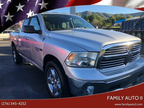 2013 RAM Ram Pickup 1500 for sale at FAMILY AUTO II in Pounding Mill VA