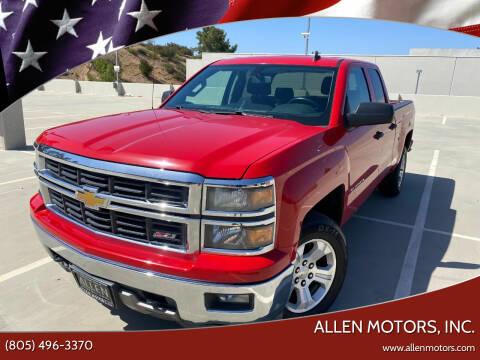 2014 Chevrolet Silverado 1500 for sale at Allen Motors, Inc. in Thousand Oaks CA