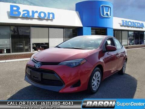 2017 Toyota Corolla for sale at Baron Super Center in Patchogue NY