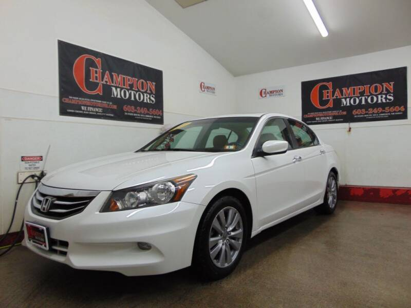 2012 Honda Accord for sale at Champion Motors in Amherst NH