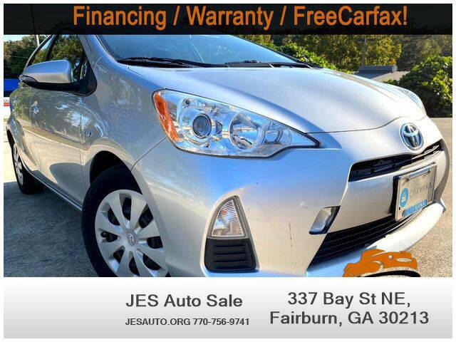 2013 Toyota Prius c for sale at JES Auto Sales LLC in Fairburn GA