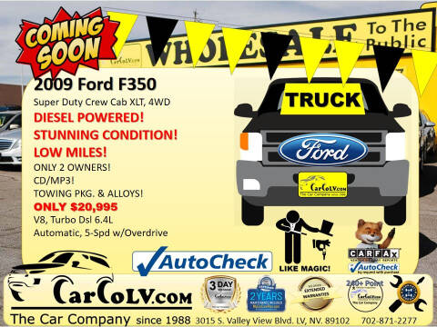 2009 Ford F-350 Super Duty for sale at The Car Company in Las Vegas NV