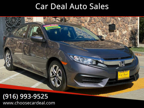 2018 Honda Civic for sale at Car Deal Auto Sales in Sacramento CA