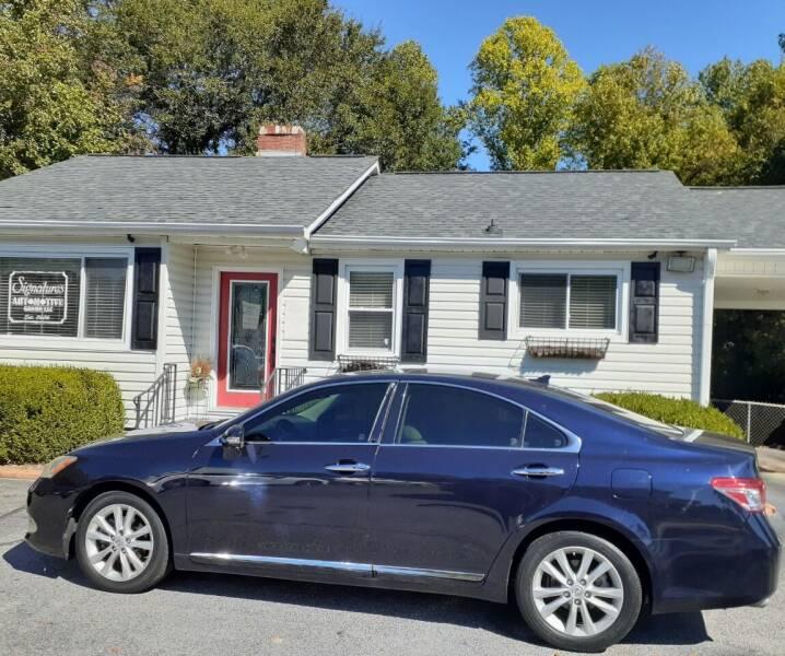 2010 Lexus ES 350 for sale at SIGNATURES AUTOMOTIVE GROUP LLC in Spartanburg SC