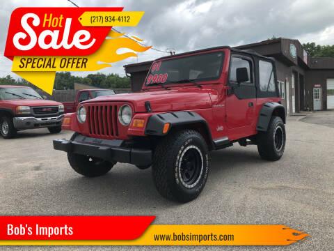2001 Jeep Wrangler for sale at Bob's Imports in Clinton IL