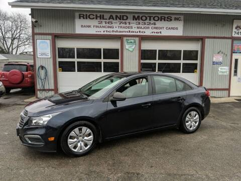 2016 Chevrolet Cruze Limited for sale at Richland Motors in Cleveland OH