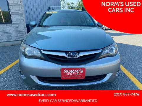 2010 Subaru Impreza for sale at NORM'S USED CARS INC in Wiscasset ME