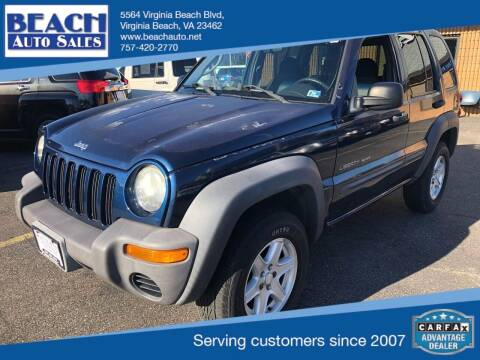 2002 Jeep Liberty for sale at Beach Auto Sales in Virginia Beach VA