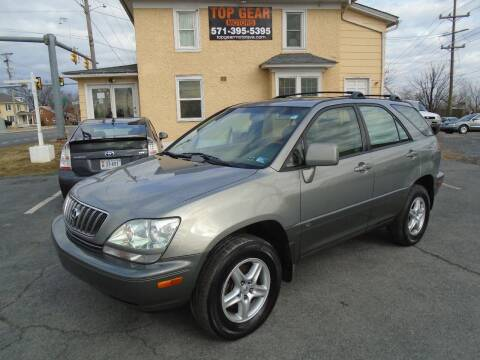 2002 Lexus RX 300 for sale at Top Gear Motors in Winchester VA