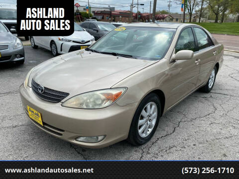 2004 Toyota Camry for sale at ASHLAND AUTO SALES in Columbia MO