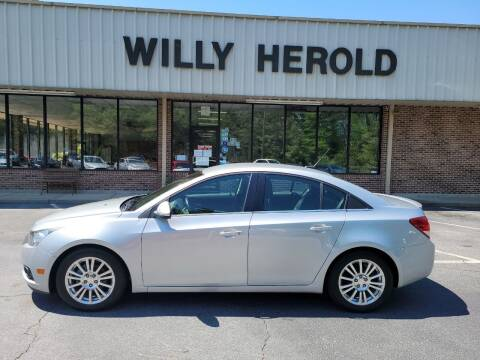 2012 Chevrolet Cruze for sale at Willy Herold Automotive in Columbus GA