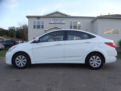 2016 Hyundai Accent for sale at SOUTHERN SELECT AUTO SALES in Medina OH