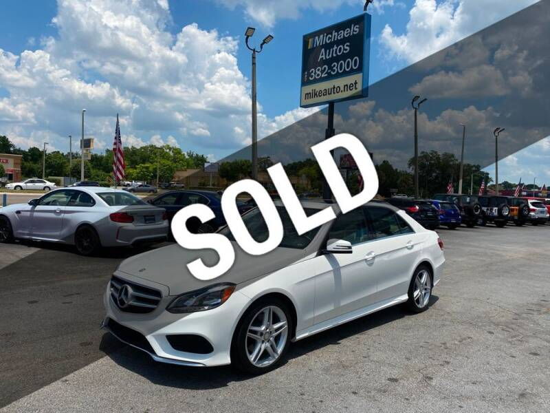 2014 Mercedes-Benz E-Class for sale at Michaels Autos in Orlando FL
