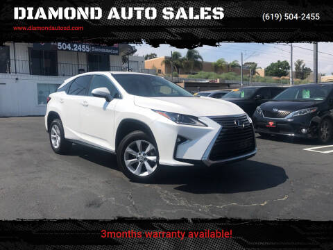 2017 Lexus RX 350 for sale at DIAMOND AUTO SALES in El Cajon CA