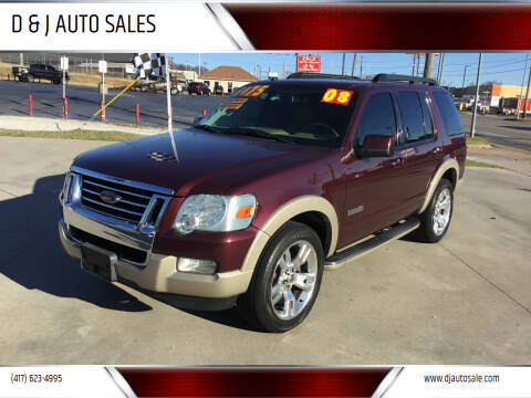 2008 Ford Explorer for sale at D & J AUTO SALES in Joplin MO