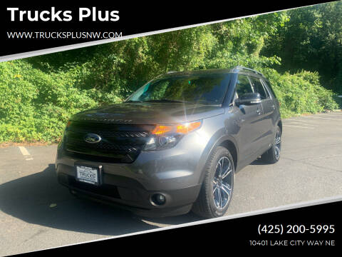 2015 Ford Explorer for sale at Trucks Plus in Seattle WA
