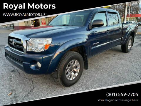 2008 Toyota Tacoma for sale at Royal Motors in Hyattsville MD