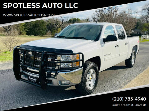 2012 Chevrolet Silverado 1500 for sale at SPOTLESS AUTO LLC in San Antonio TX