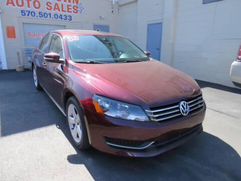 2013 Volkswagen Passat for sale at Small Town Auto Sales in Hazleton PA