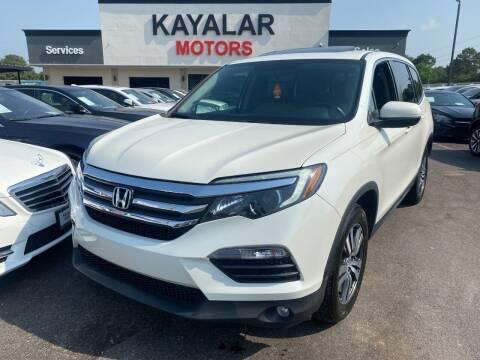 2017 Honda Pilot for sale at KAYALAR MOTORS in Houston TX