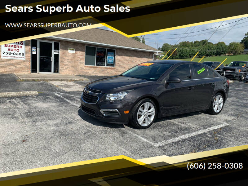 2016 Chevrolet Cruze Limited for sale at Sears Superb Auto Sales in Corbin KY