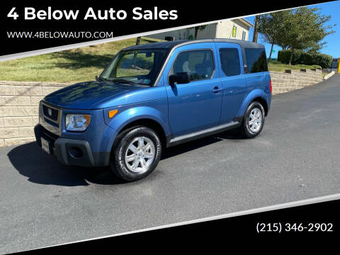 2006 Honda Element for sale at 4 Below Auto Sales in Willow Grove PA