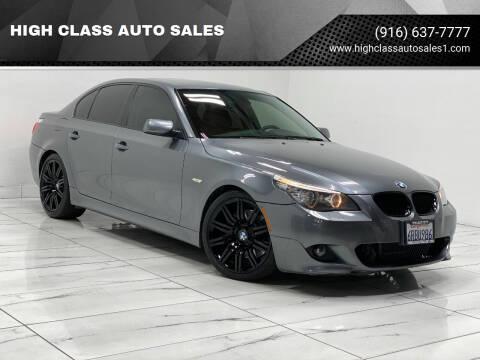 2009 BMW 5 Series for sale at HIGH CLASS AUTO SALES in Rancho Cordova CA