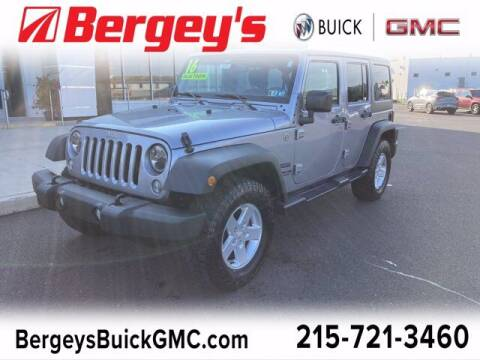 2016 Jeep Wrangler Unlimited for sale at Bergey's Buick GMC in Souderton PA