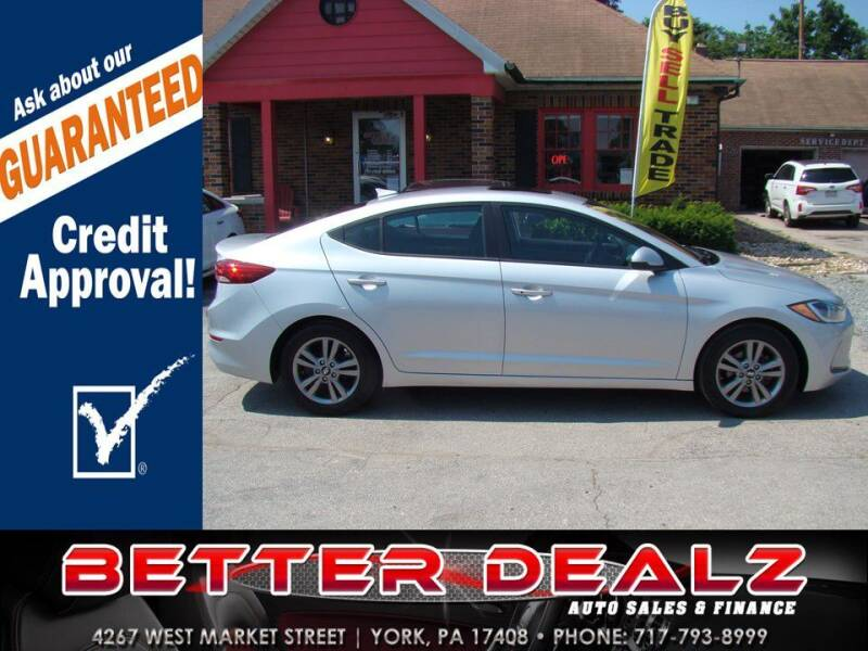 2017 Hyundai Elantra for sale at Better Dealz Auto Sales & Finance in York PA