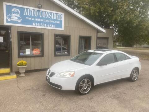 2009 Pontiac G6 for sale at Auto Consider Inc. in Grand Rapids MI