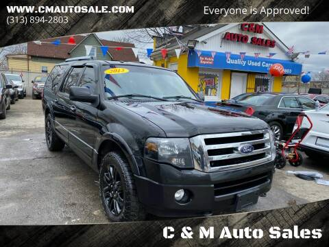 2013 Ford Expedition EL for sale at C & M Auto Sales in Detroit MI