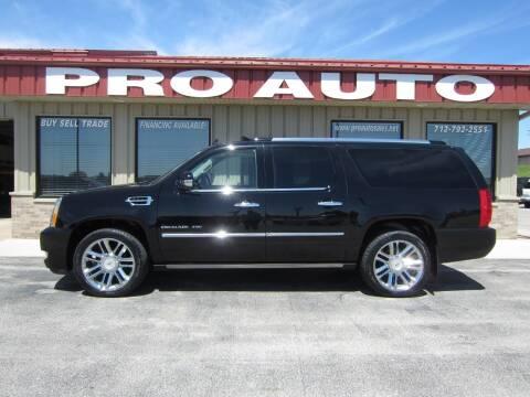 2012 Cadillac Escalade ESV for sale at Pro Auto Sales in Carroll IA