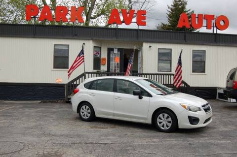 2012 Subaru Impreza for sale at Park Ave Auto Inc. in Worcester MA