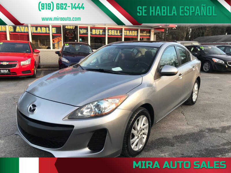 2012 Mazda MAZDA3 for sale at Mira Auto Sales in Raleigh NC