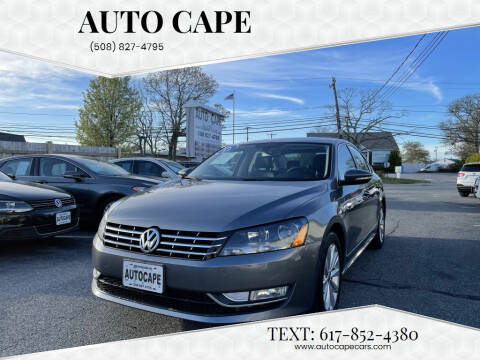 2012 Volkswagen Passat for sale at Auto Cape in Hyannis MA