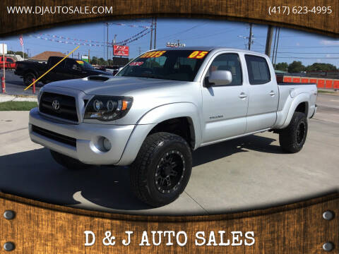 2005 Toyota Tacoma for sale at D & J AUTO SALES in Joplin MO