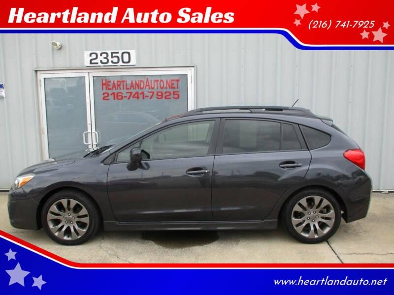 2014 Subaru Impreza for sale at Heartland Auto Sales in Medina OH