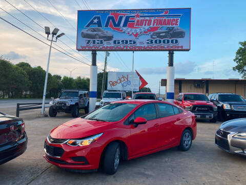 2016 Chevrolet Cruze for sale at ANF AUTO FINANCE in Houston TX