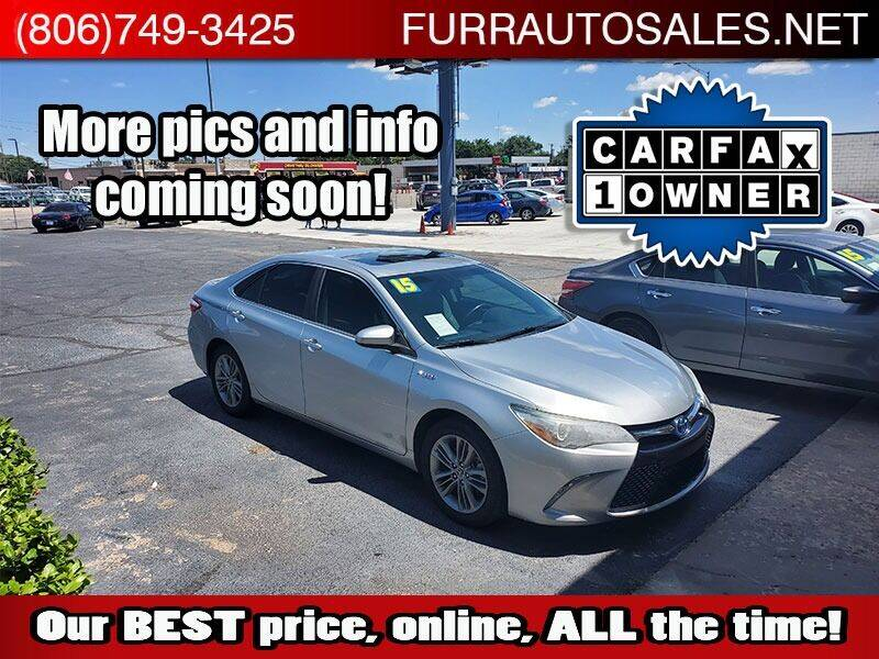 2015 Toyota Camry Hybrid for sale at FURR AUTO SALES in Lubbock TX