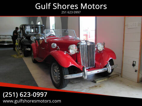 1952 MG TD for sale at Gulf Shores Motors in Gulf Shores AL