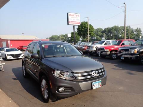 2013 Volkswagen Tiguan for sale at Marty's Auto Sales in Savage MN