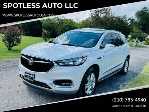 2018 Buick Enclave for sale at SPOTLESS AUTO LLC in San Antonio TX