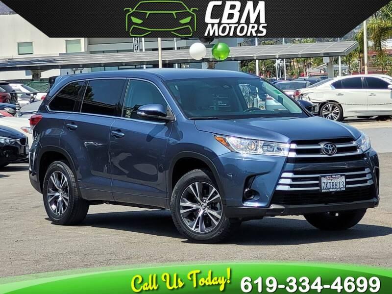 2017 Toyota Highlander for sale in El Cajon, CA