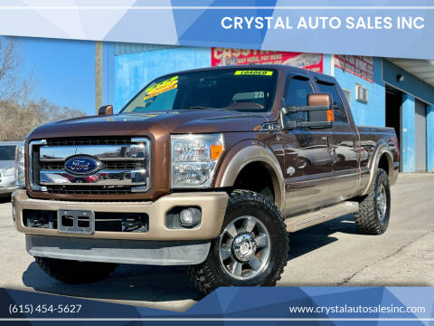 2012 Ford F-250 Super Duty for sale at Crystal Auto Sales Inc in Nashville TN