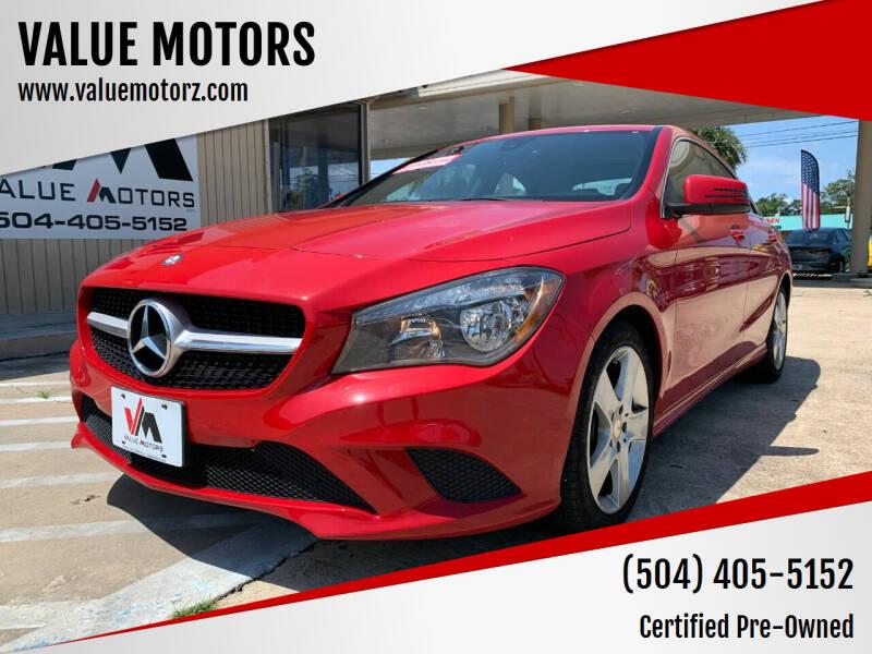 2015 Mercedes-Benz CLA for sale at VALUE MOTORS in Kenner LA
