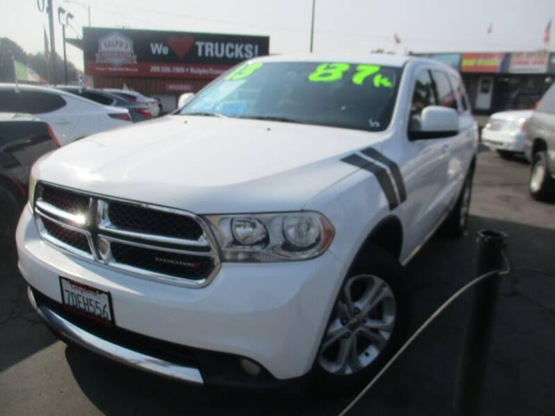 2013 Dodge Durango for sale at Quick Auto Sales in Modesto CA