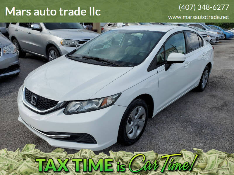 2015 Honda Civic for sale at Mars auto trade llc in Kissimmee FL